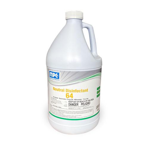 ND64 Neutral Commercial Disinfectant & Detergent Concentrate, Lemon Scent, MC106998 (5 gallons)