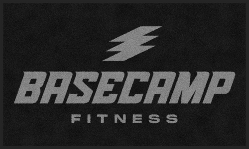 M+A Matting Basecamp Fitness Stacked Logo Classic Impressions, Horizontal Interior Wiper Mat