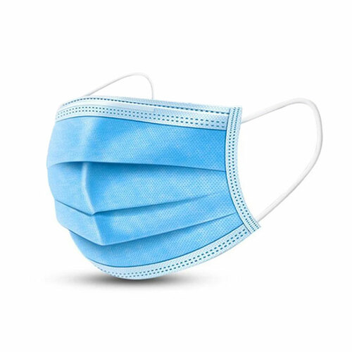 Disposable Surgical Face Masks, Pleated Procedural-Style (Case of 50, 200 or 2000)