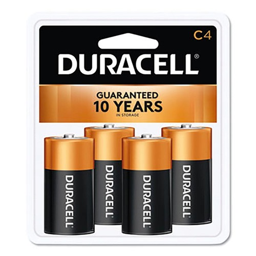 Duracell CopperTop Alkaline C Batteries, (4-pack), DURMN1400R4ZX17