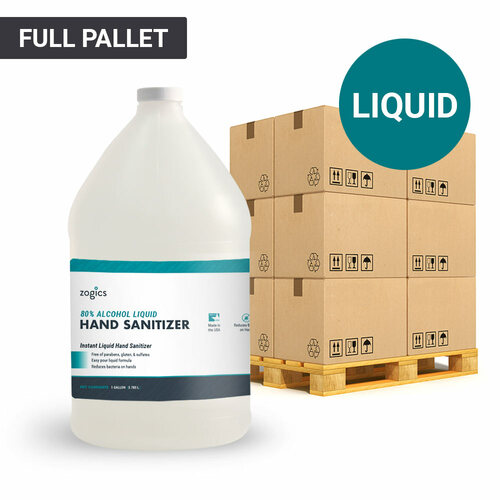 80% Alcohol Liquid Hand Sanitizer Pallet