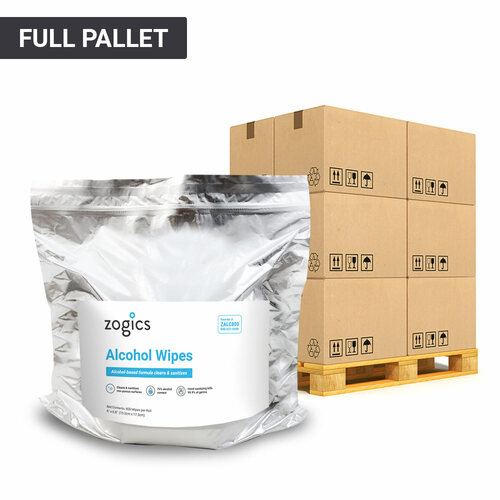 75% Alcohol Wipes Pallet (1 Pallet, 36 Cases, 144 Rolls)
