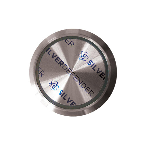Antibacterial Elevator Button Tape | Silver Defender Round