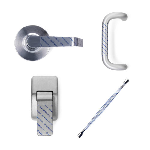 Antibacterial Door Handle Tape | Silver Defender