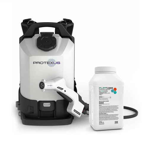 Protexus Backpack Electrostatic Sprayer and PURTABS 13.1G Disinfecting Tablets Bundle (PX300ES-ESPT13.1G)