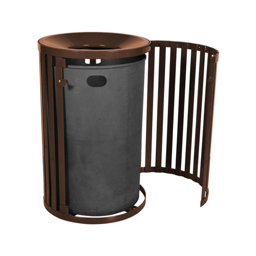 Outdoor Trash Receptacle with Door