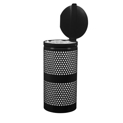 Perforated Waste Receptacle with Lid