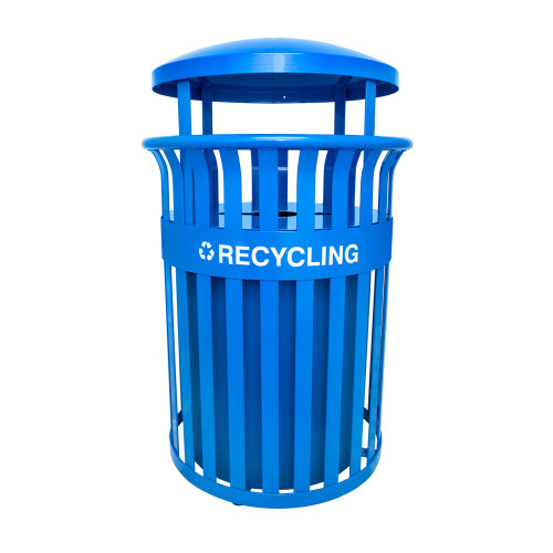 Outdoor Recycling Receptacle with Canopy