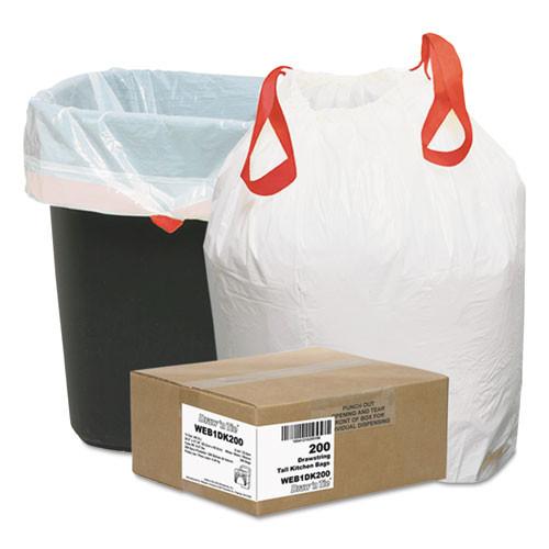 Draw in Tie Heavy-Duty Trash Bags 13 gallon