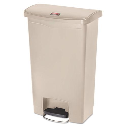Rubbermaid Slim Jim Resin Container Beige, 13 gallon