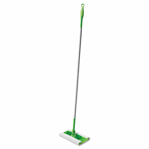 "Swiffer Sweeper Mop -10 x 4.8 White Cloth Head, 46"" Plastic Handle"