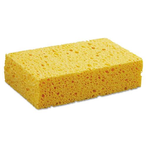 "Boardwalk BWKCS2 Medium Cellulose Sponge, 3 2/3 x 6 2/25"", 1.55"" Thick, Yellow"