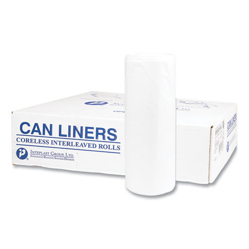 Extra Heavy-Duty Can Liners, 38 x 58, 60 gallon, 19 microns, Clear, 150/Carton