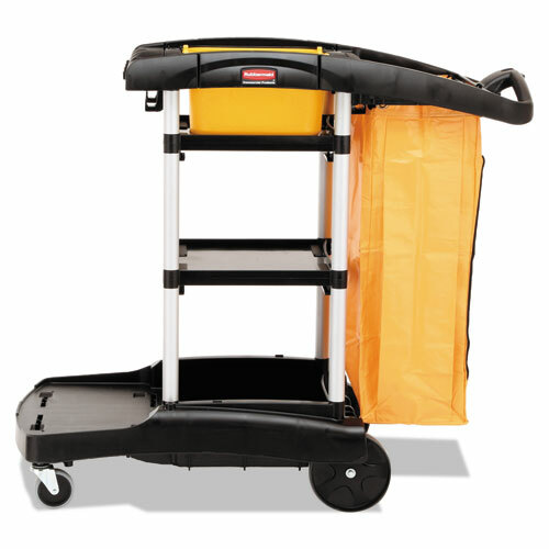 Rubbermaid Commercial RCP9T7200BK High-Capacity Janitorial Cleaning Cart