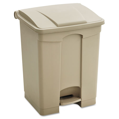 Safco Large Capacity Plastic Step-On Receptacle, 23 gallon