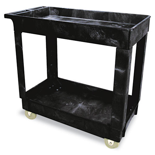 Rubbermaid Commercial RCP9T6600BLA Lightweight Service/Utility Cleaning Cart