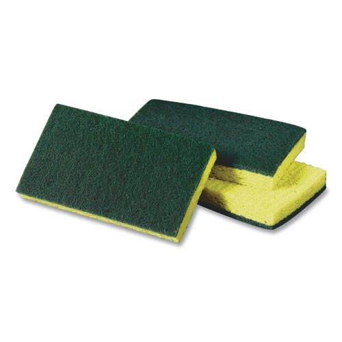 Scotch Brite Medium Dual-Action Cellulose Sponge, 3.6 x 6.1, Yellow/Green