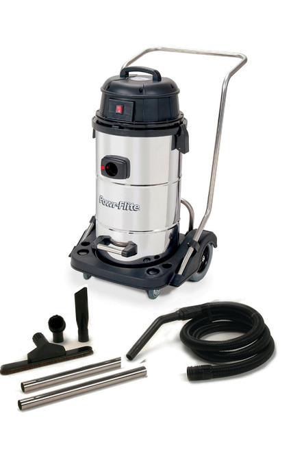 Powr Flite Wet Dry Vacuum 15 Gallon With Stainless Steel Tank and Tool Kit