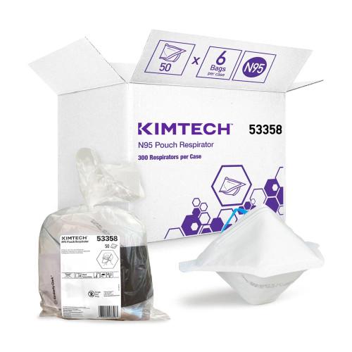N95 Pouch Respirator (6 packs of 50) | Kimtech™ (53358)