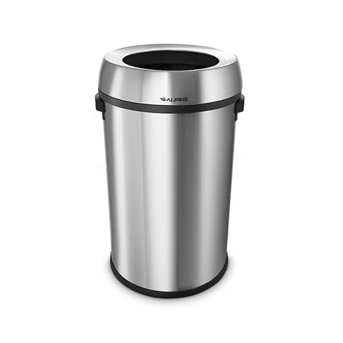 Open Top Stainless Steel 17 Gallon Trash Can (ALP470-65L)