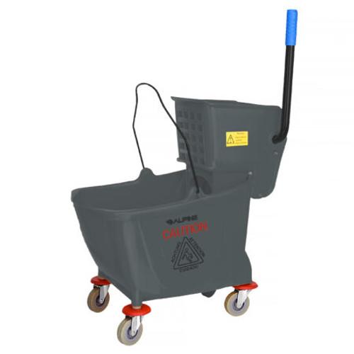36 Quart Mop Bucket & Side Wringer Combo    Alpine Industries