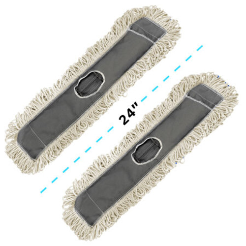 """Alpine Industries 24"""" Cotton Dust/Dry Mop Replacement Heads"""