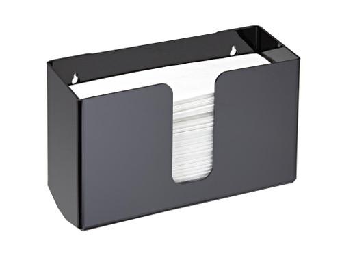 Acrylic Black 432-BLK Wall Mount Towel Dispenser | Alpine Industries