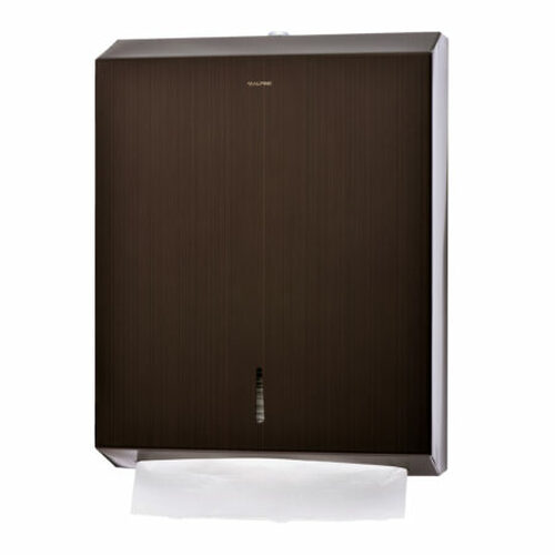 Alpine Industries C-Fold/Multifold Paper Towel Dispenser - Antique Bronze
