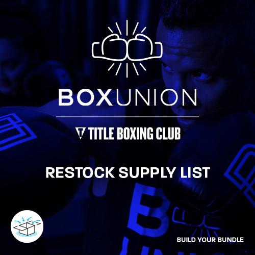 BoxUnion & TITLE Boxing Club | Restock List
