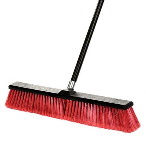 "24"" Smooth Surface Push Broom - 460-24-2-3"