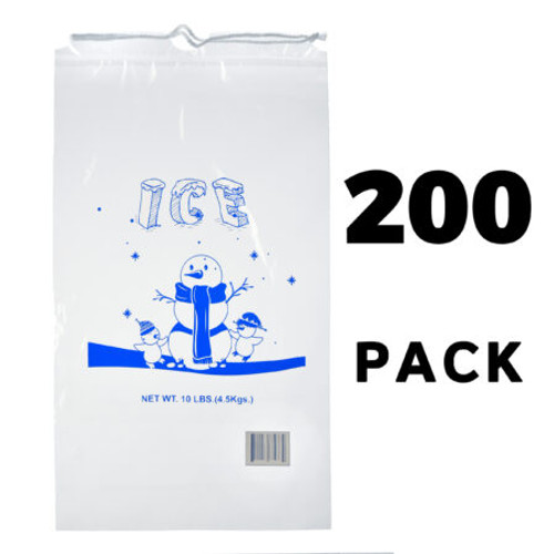 Alpine Industries Clear Plastic Ice Bags - 1.5 Mil, 200 Bags