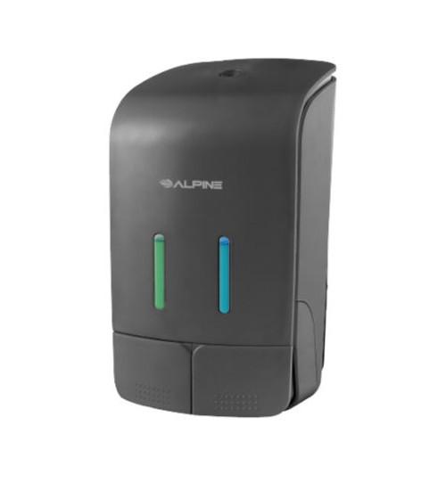 Alpine Double Soap & Hand Sanitizer Dispenser - 426-GRY