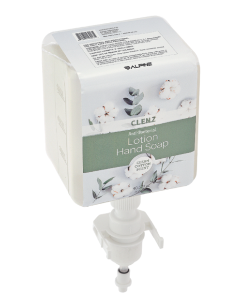 CLENZ Antibacterial Clean Cotton Liquid Hand Soap, Cartridge, Case Of 4