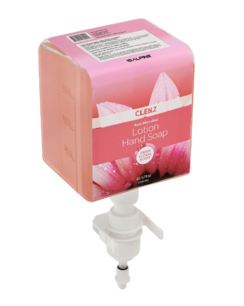 CLENZ Antimicrobial Fresh Floral Liquid Hand Soap, Cartridge, Case Of 4