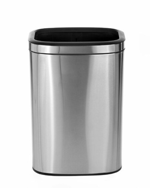 Alpine Industries 40 L / 10.5 Gallon Stainless Steel Slim Open Trash Can
