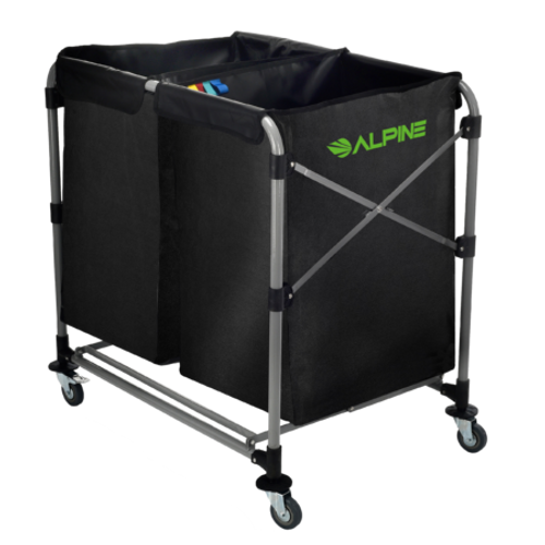 Alpine Industries 8 Bushel Collapsible Two-Section Folding Cart 4000-3