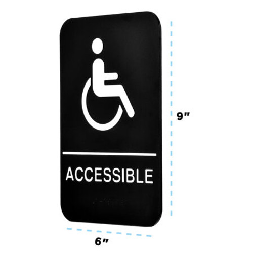 Alpine Industries ADA Handicap Accessible Sign with Braille ALPSGN-39