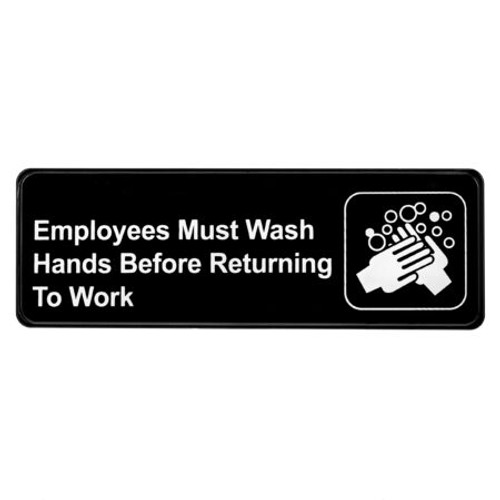 Alpine Industries Employees Must Wash Hands Before Returning to Work Sign ALPSGN-38
