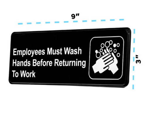 Alpine Industries Employees Must Wash Hands Before Returning To Work Sign Board ,Pack of 3