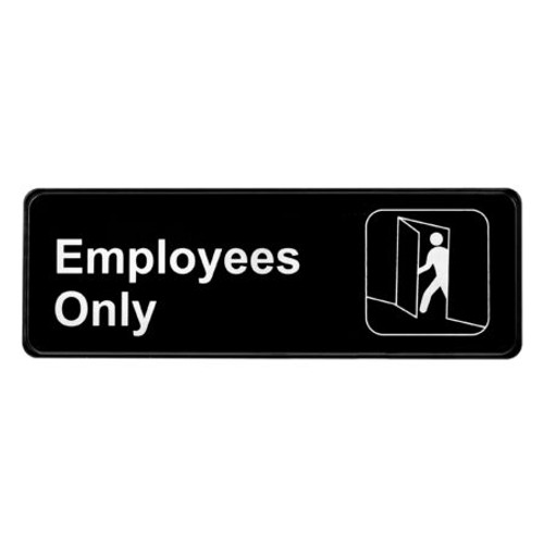 """3"""" X 9"""" Employees Only Sign ALPSGN-21"""