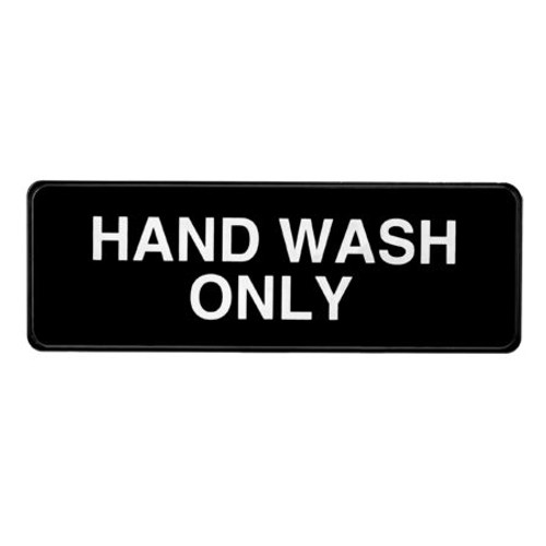"""Alpine Industries  3""""X9"""" Hand Wash Only Sign ALPSGN-30"""
