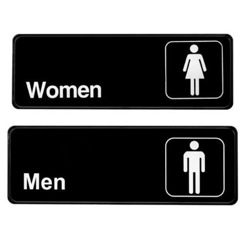 "Alpine Industries  3""X9"" Men's And Women's Restroom Signs ALPSGN-B-2"