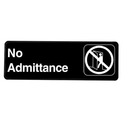 "Alpine Industries 3""X9""No Admittance Sign ALPSGN-11"