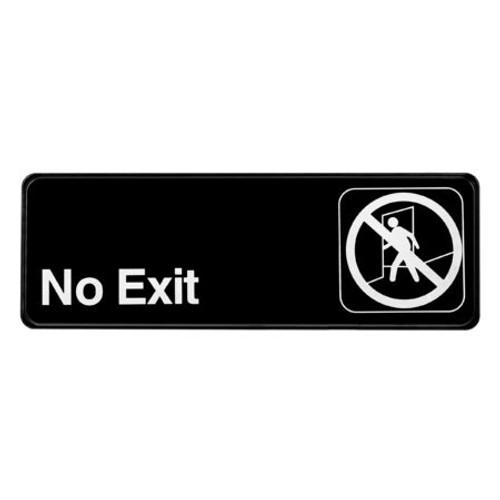 "Alpine Industries 3""X9"" No Exit Sign ALPSGN-35"