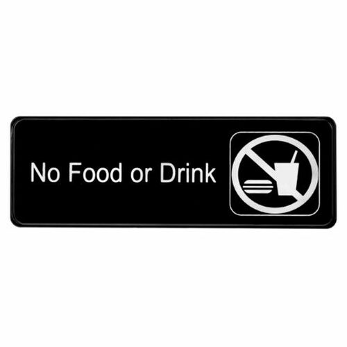 Alpine Industries No Food or Drink Sign ALPSGN-22
