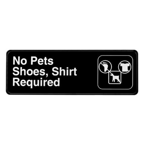 """Alpine Industries 3""""X9"""" No Pets, Shoes, And Shirt Required Sign ALPSGN-13"""
