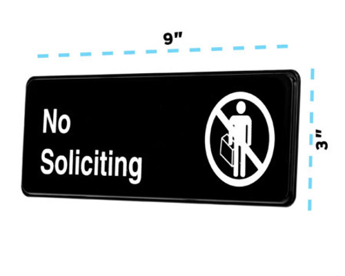 """Alpine Industries 3""""X9"""" No Soliciting Sign ALPSGN-28"""
