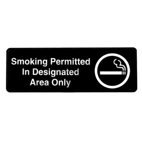 """Alpine Industries 3""""X9"""" Smoking Permitted Sign ALPSGN-33"""