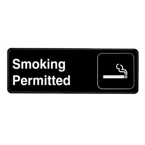 """Alpine Industries 3""""X9"""" Smoking Permitted Sign ALPSGN-24"""