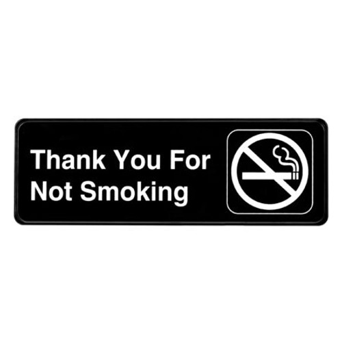 """Alpine Industries 3""""X9"""" Thank You For Not Smoking Sign - ALPSGN-37"""